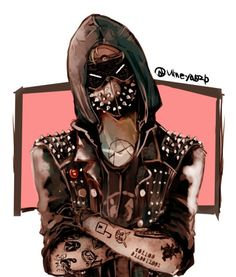 Arts And Crafts Storage Info: 1519517646 Wrench Watch Dogs 2, Watch Dogs 1, Gas Mask Art, Masks Art, Character Design References, Character Art, Arts And Crafts Storage, My Superhero, Fan Art
