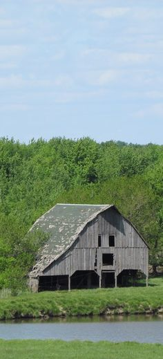 Barn By Big Pond