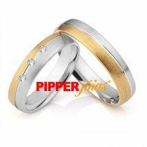 Alianças de Casamento em Ouro 18k e Prata - ALM529