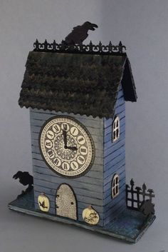 With Glue and Glitter : Newest Halloween House - Raven's Crest Clock House...