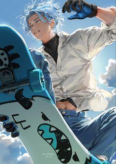 M Anime, Hot Anime Boy, Fanarts Anime, Cute Anime Guys, Otaku Anime, Anime Boys, 19 Days Anime, Yuumei Art, Infinity Art