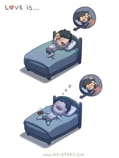 Love this artist and his take on his love life.  Reminded me of when my hubs and I were dating long distance.  Those nights of falling asleep on the phone with each other, so priceless now.