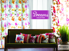 The Dreams collection, perfect one to brighten up your dream home. Explore more @ www.homesfurnishings.com #HomesFurnishings #Cushions #HomeDecor #HomeFabrics #Furnishings #Curtains #DigitalPrints