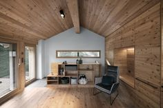 Transformation of a mayen on the top of bruson in valais by the office www.alparchitectu … by alparchitecture Living Spaces, Living Room, The Office, Php, Facade, Barn, Photo And Video, Wood, Table