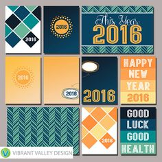2016 Project Life Cards, 2016, New years, new years eve, resolutions, journaling cards, pocket scrapbooking
