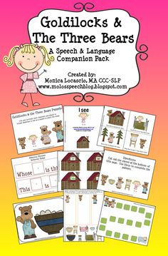 Goldilocks & The Three Bears Speech & Language Companion Pack