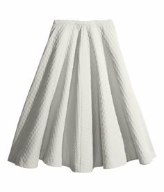 Flared + textured + pleasted skirt from H&M