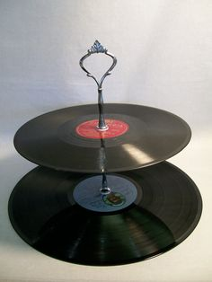 re-purposed vinyl records