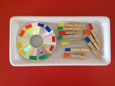 Colour activities for kids ! Montessori Classroom, Montessori Toddler, Montessori Activities, Color Activities, Toddler Learning, Infant Activities, Preschool Activities, Preschool Colors, Montessori Practical Life