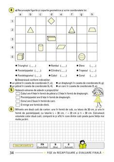 Clasa a IV-a : Fişe de recapitulare şi evaluare finală clasa a IV-a Word Search, Words, Geography, Geometry, Horse