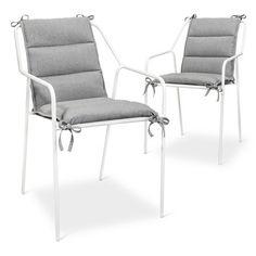 Dining Chair Cushion 2 Pk Gray