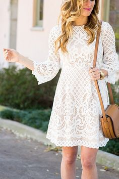 Brighton The Day Eliza J. White bell sleeve lace dress 13