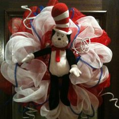 Dr. Seuss Deco Mesh Wreath