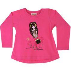 Camiseta Infantil Feminina Boneca Pink - Nini & Bambini :: 764 Kids | Roupa bebê e infantil