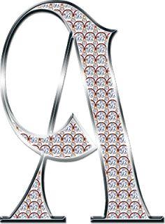 Alfabeto Decorativo: Alfabeto - Diamante 1 - PNG - Letras - Maiúsculas ...