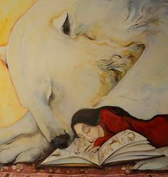 Jackie Morris-Polar bear and woman reading an old illuminated book Dad Drawing, East Of The Sun, Reading Art, Woman Reading, Bear Art, Children's Book Illustration, Art Illustrations, Pictures To Draw, Childrens Books