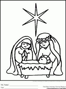 Simple Christmas Coloring Pages
