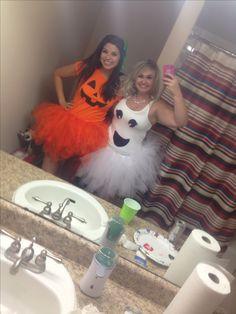 Pumpkin and Ghost costume #adult #tutu #halloween