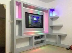 "Exceptional ""tv wall mount diy"" detail is available on our website. Have a look and you wont be sorry you did. Living Room Wall Units, Living Room Tv Unit Designs, Interior Design Companies, Decor Interior Design, Lcd Wall Design, Modern Tv Wall Units, Bedroom False Ceiling Design, Plafond Design, Tv Wall Decor"