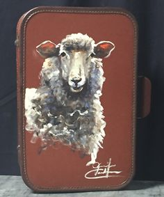I love my original painted suitcase by Jennifer Casebeer.  I found this piece at the San Antonio Stock Show and Rodeo.