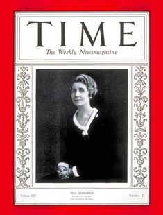 TIME Cover: Mrs. Calvin Coolidge