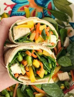 Sesame chicken vegetable wraps are a smart and healthy choice for lunch or dinner! Healthy Snacks For Diabetics, Healthy Foods To Eat, Healthy Eating, Healthy Wraps, Baked Orange Chicken, Sesame Chicken, Teriyaki Chicken, Tortillas, Healthy Recipe Videos