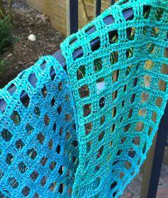 Ravelry: Windowpane Scarf pattern by Adrienne Lash Crochet Scarves, Crochet Yarn, Crochet Hooks, Crotchet, Crochet Stitches Free, Crochet Patterns, Knit Picks, Crochet Videos, Crochet Accessories