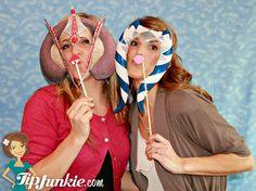 Photo booth printable masks
