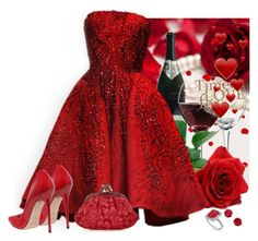 """""""Red dress"""" by fashionrushs ❤ liked on Polyvore featuring Libbey, Elie Saab, Kate Spade, Jimmy Choo, Allurez and Dolce&Gabbana"""