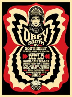 Obey poster by Shepard Fairey