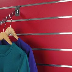 Slatwall panels normally in stock in two sizes: 120 x (approx x or x wide (approx x Choose from 22 different finishes to compliment and enhance your theme Barber Accessories, Shop Fittings, Slat Wall, Clothes Hanger, Display, Cameras, Home, Red, Coat Hanger