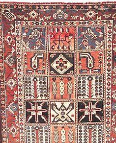 Bachtiar, Persien, 253 x 152cm, EHZ 3-4 Flor Wolle, ca.50 Jahre