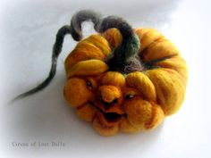 Needle Felting Pumpkin by Circusoflostdolls on Etsy