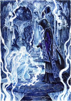 In the Halls of Dead by Candra.deviantart.com on @deviantART (Beautiful portrayal of the Halls of Mandos…)