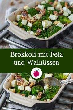 Broccoli with feta and walnuts - healthy side dish to fish or .- Brokkoli mit Feta und Walnüssen – gesunde Beilage zu Fisch oder Kartoffeln Broccoli with feta and walnuts – healthy side dish with fish or potatoes - Clean Eating Dinner, Clean Eating Recipes, Healthy Dinner Recipes, Healthy Snacks, Vegetarian Recipes, Healthy Eating, Healthy Sugar, Clean Foods, Healthy Sides