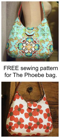 FREE sewing pattern for The Phoebe bag. Use this FREE pattern to make this very popular bag.