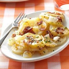 Grilled Triple-Cheese Potatoes Recipe from Taste of Home