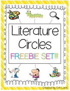 Free Literature Circle activities! See blog post on how these were done in the second grade classroom (link in description).