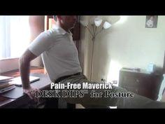 DESK DIPS - Can help improve your posture. #PainFreeMaverick