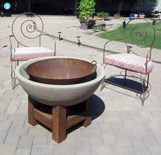 Roundup: 14 DIY Fire Pits You Can Make Yourself! »Curbly | DIY Design Community- Loooove the Core tan/ concrete combo- although I wonder if I could DIY and make it look that good :)