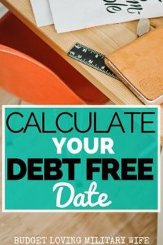 FREE Debt Snowball Calculator! Determine Your Debt Free Date TODAY! Pay off Debt, Student Loan Debt #debt