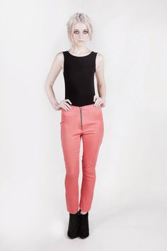 Pink summer pants with black body by Amanda Duran on Etsy soon!