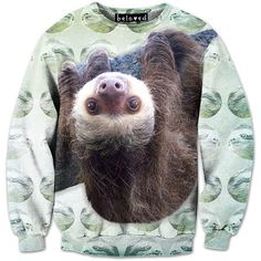 Hanging Sloth Sweatshirt. one day I will get this and I will wear it forever