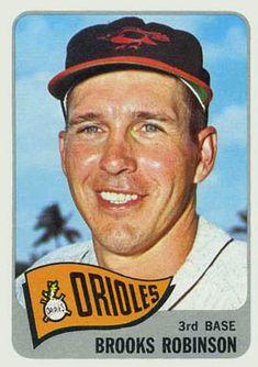 1965 Topps Baseball Card Brooks Robinson EX+ Baseball Card Values, Old Baseball Cards, Baseball Stuff, Baltimore Orioles Baseball, Famous Baseball Players, Softball Players, Baseball Season, Baseball Odds, Sports