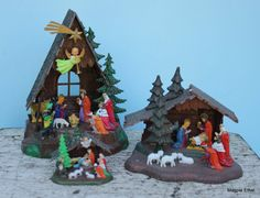 Vintage Nativity Sets  Plastic Instant Collection by EisforEthel, $19.00