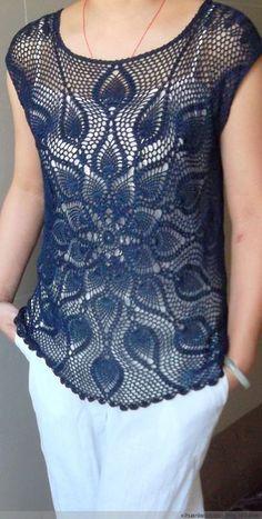 Fabulous Crochet a Little Black Crochet Dress Ideas. Georgeous Crochet a Little Black Crochet Dress Ideas. Débardeurs Au Crochet, Crochet Pincushion, Mode Crochet, Freeform Crochet, Crochet Woman, Quick Crochet, Black Crochet Dress, Crochet Blouse, Crochet Poncho