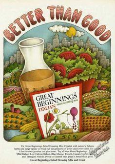 *Great Beginnings Italian Salad Dressing Color (1974)
