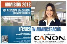 Se ha iniciado el Proceso de Admisión 2013.  Consultas a admision@cftcanon.cl  www.cftcanon.cl