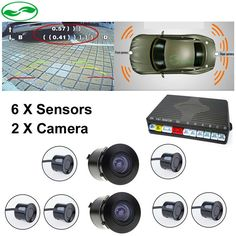 76.99$  Know more - http://ai55f.worlditems.win/all/product.php?id=32800883785 - Double CPU Car Video Parking Sensor Reversing Radar Front Rear 6 Sensors Front Rear Camera, Voice Alarm and Digital Distance