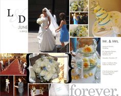 Wedding Flowers: @Cascades White & Ivory Roses & Blue Delphinium!  ~Creative Place